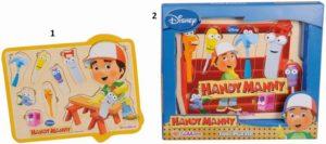 Eichhorn Ξύλινο Παζλ Handy Manny-2 Σχέδια (4723)