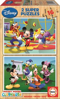 Educa Παζλ Ξύλινο 2x16 Mickey Club House (14181)