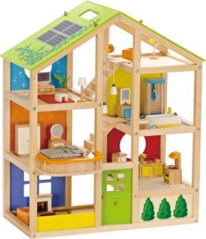 Hape Happy Family Ξύλινο Σπίτι (E3401A)