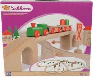 Eichhorn Ξύλινο Σετ Τρένο & Γέφυρα 55 Τεμάχια (100001204)