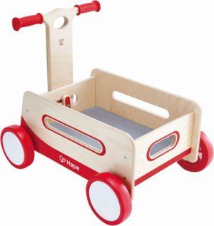 Hape Push & Pull Ξύλινο Καρότσι Μεταφοράς Wonder Wagon (E0375A)