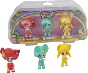 Glimmies Rainbow Friends Σετ 3 Κούκλες-2 Σχέδια (GLN02110)