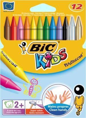 Bic 12 Κηρομπογιές Kids Plastidecor (829770)