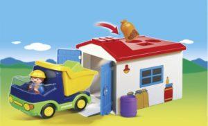 Playmobil 1.2.3 Φορτηγό Με Γκαράζ (6759)