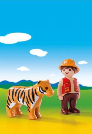 Playmobil 1.2.3 Θηροφύλακας Με Τίγρη (6976)