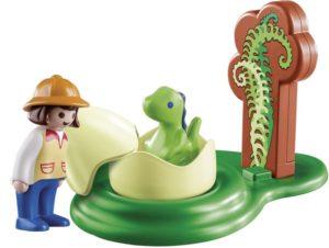 Playmobil 1.2.3 Εξερευνήτρια Με Νεογέννητο Δεινοσαυράκι (9121)