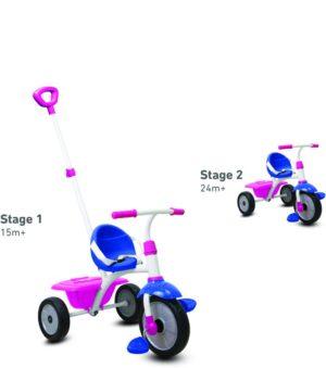 Smart Trike Τρίκυκλο Fun-Blue/Pink/White (1240400)