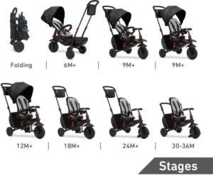 Smart Trike Τρίκυκλο Folding 700 Black (5500000)