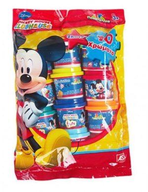 10 Βαζάκια 1oz σε Σακουλάκι Mickey (1045-03523)