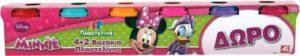 Mickey Club House 4+2 Βαζάκια Πλαστελίνης 4oz-Minnie (03532)