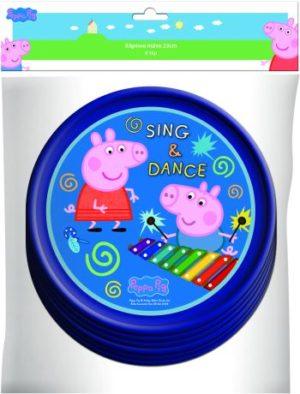 Peppa Pig Πιάτα Χάρτινα 18cm 6Τμχ-2 Σχέδια (0480940)
