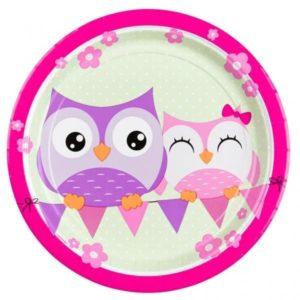 Πιάτα 23cm Happy Owl 8Τμχ (998344)