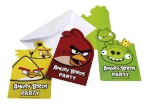 Προσκλήσεις Angry Birds 6 Τμχ (552368)