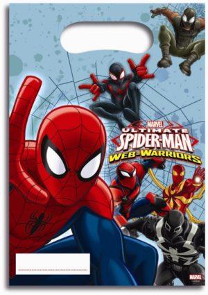 Τσάντες Δώρων Spiderman Web Warriors 6Τμχ (85156)