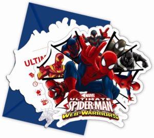 Προσκλήσεις Spiderman Web Warriors-6Τμχ (85157)