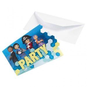 Προσκλήσεις Playmobil 8Τμχ (M9900183)