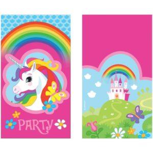 Προσκλήσεις Unicorn Rainbow-8Τμχ (M9902108)