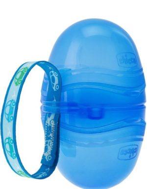 Chicco Διπλή Θήκη Πιπίλας Μπλε (C80-07264-80)