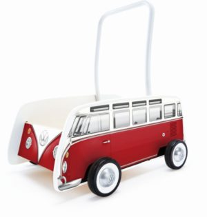 Hape Push & Pull Ξύλινη Στράτα Classical Bus T1 Red (E0379A)