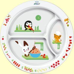 Philips Avent Εκπαιδευτικό Πιάτο Φαγητού Bpa Free (SCF702/00)