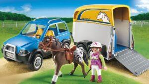 Playmobil Όχημα Με Τρέιλερ Μεταφοράς Αλόγων (5223)