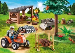 Playmobil Ξυλοκόποι Με Τρακτέρ (6814)