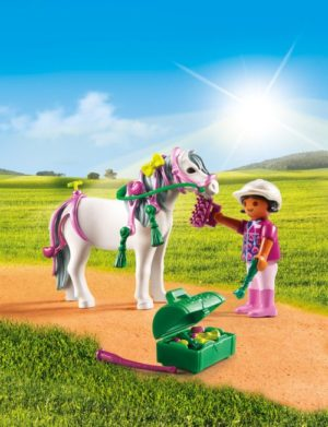 Playmobil Πόνυ Με Καρδούλες & Κοριτσάκι (6969)