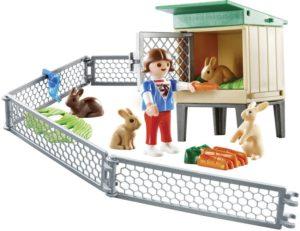Playmobil Βαλιτσάκι Φροντίζοντας Τα Κουνελάκια (9104)