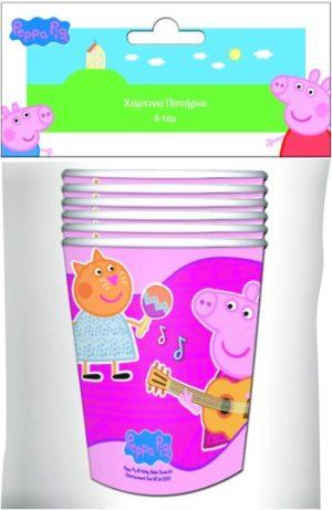 Peppa Pig Ποτήρια Χάρτινα 6Τμχ-2 Σχέδια (0480941)
