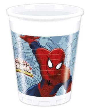 Ποτήρια Spiderman Web Warriors 8Τμχ (85153)