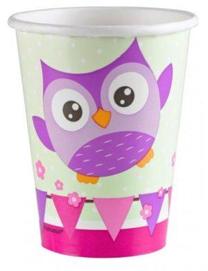 Ποτήρια 250ml Happy Owl 8Τμχ (998345)