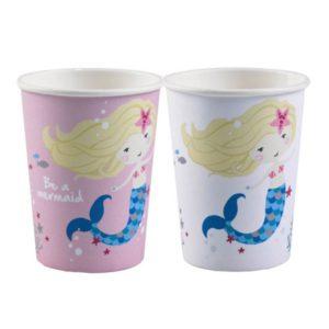 Ποτήρια Be A Mermaid 250ml-8Τμχ (M9903032)