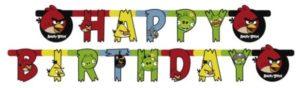 Γιρλάντα Γράμματα Happy Birthday Angry Birds 180cm (552367)
