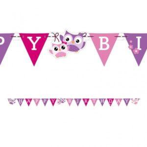 Γιρλάντα Γράμματα Happy Birthday Happy Owl 180cm (998350)