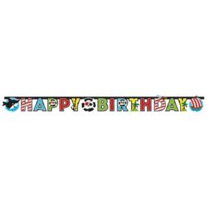 Γιρλάντα Γράμματα Happy Birthday Pirate-180cm (M9902126)