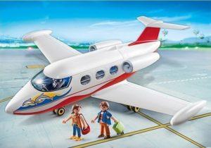 Playmobil Αεροπλάνο Με Πιλότο & Τουρίστες (6081)