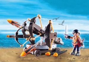 Playmobil Dragons Ο Έρετ Με Τετραπλή Βαλλίστρα & Βέλη Φωτιάς (9249)