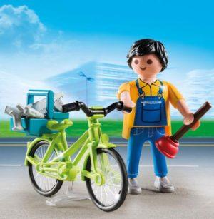 Playmobil Special Plus Υδραυλικός Με Ποδήλατο (4791)