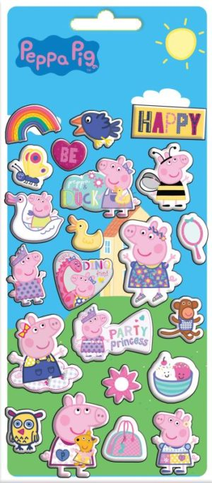 Peppa Pig Αυτοκόλλητα Puffy 10x22cm (0482243)