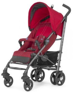 Chicco Καρότσι Lite Way 2 Top Με Μπάρα Προστασίας-Red (Ο06-79547-70)
