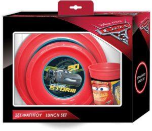 Cars Σετ Φαγητού Πιάτο/Μπωλ/Ποτήρι (0561555)