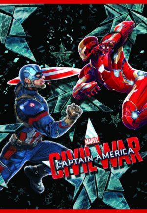 Captain America Τετράδιο Καρφίτσα 17x24 40 Φύλλων-2 Σχέδια (0500691)