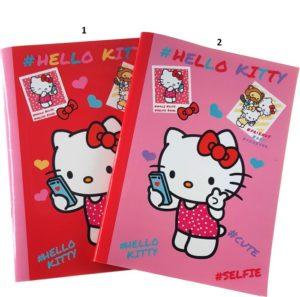 Hello Kitty Τετράδιο Καρφίτσα 17x25 50 Φύλλων 1Τμχ-2 Σχέδια (16800)