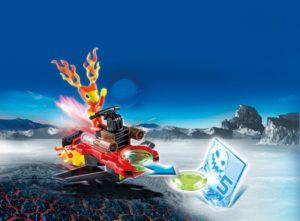 Playmobil Firefighter Με Εκτοξευτή Δίσκων (6834)