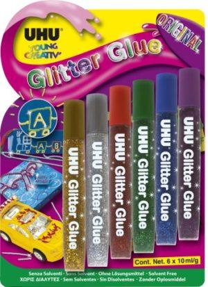 UHU Glitter Glue 6x10ml (39042)