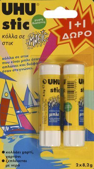 UHU Κόλλα Stic Magic 8.2gr 1+1 Δώρο (42697)