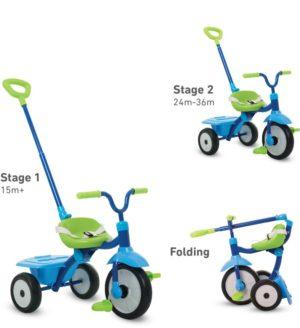 Smart Trike Τρίκυκλο Folding Fun Blue (1310900)