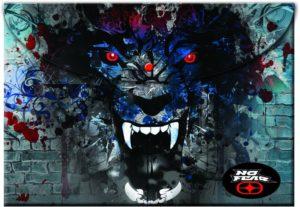 No Fear Digital Wolves Φάκελος Κουμπί (347-46580)