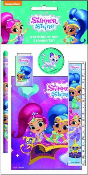 Shimmer & Shine Σετ Σχολικό+Μπλοκ (334-45755)