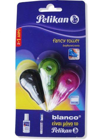 Pelikan Blanco Διορθωτικό Roller Fancy 3Τμχ (2+1 Δώρο) (11094630)